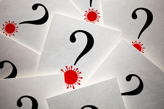 Covid question mark