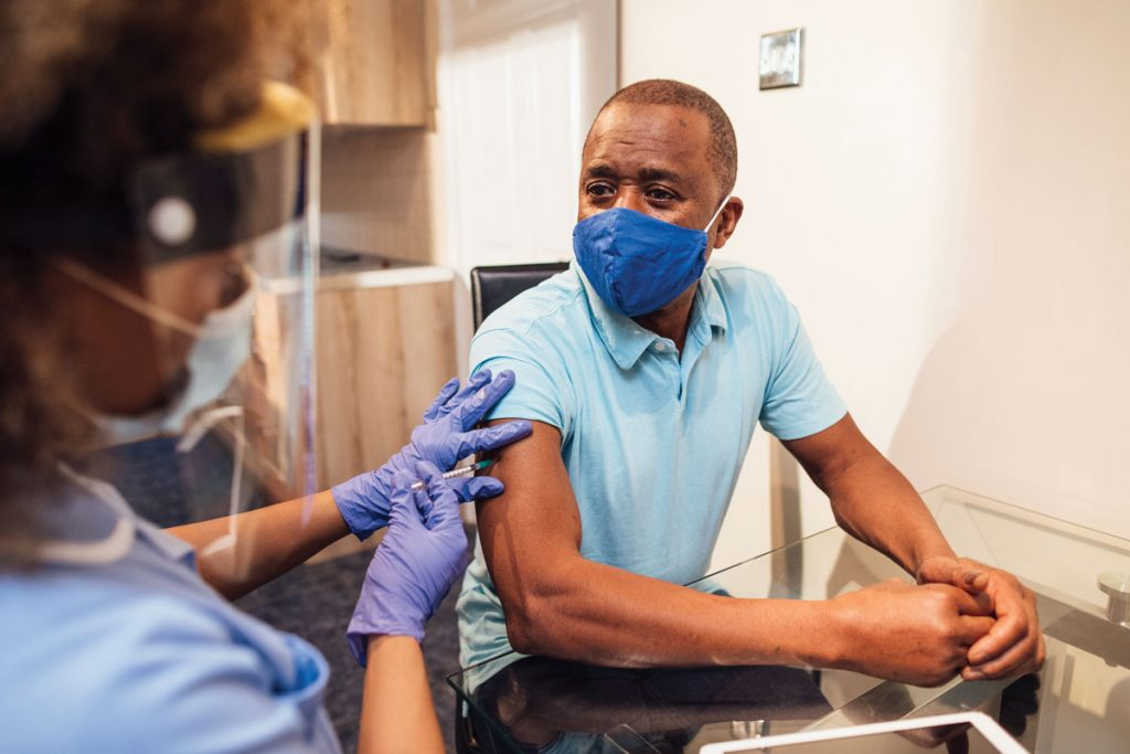 Tensions with mass vaccination centres