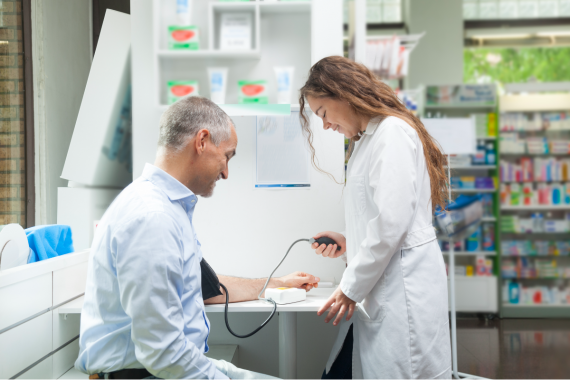 blood pressure pharmacy CVD screening